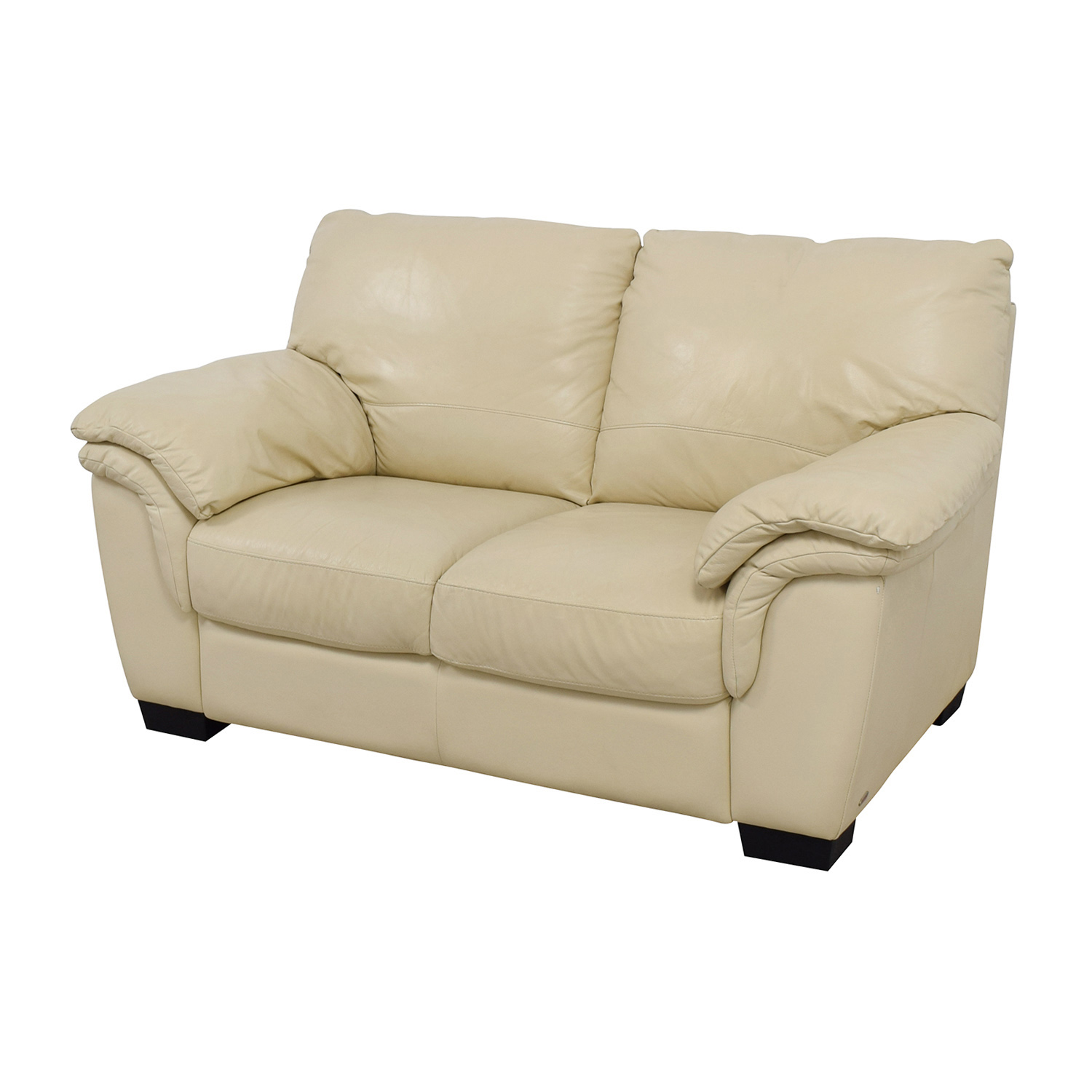 secondhand leather sofas leona pewter sofa 80% off - natuzzi italsofa white loveseat /