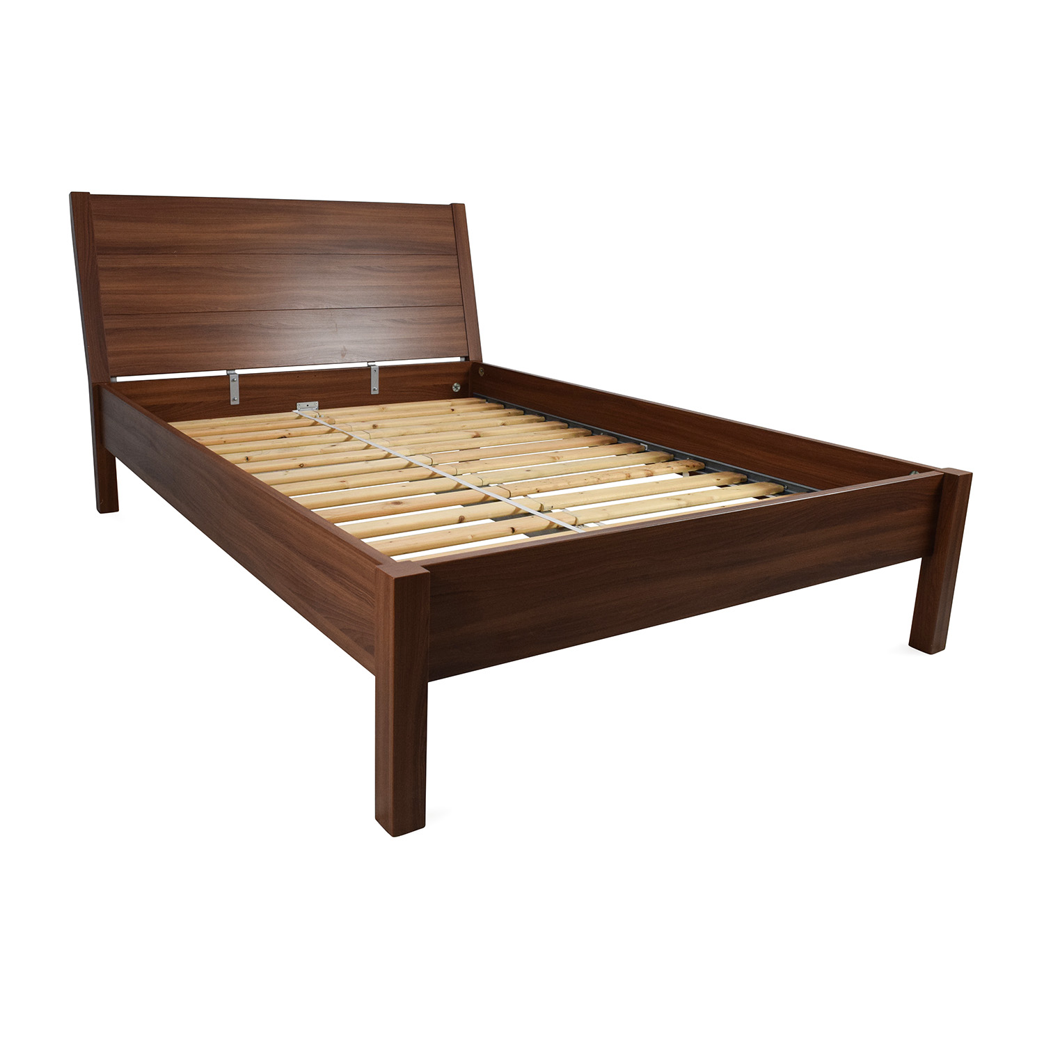 67 Off Ikea Ikea Full Size Brown Bed Frame Beds