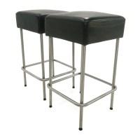 71% OFF - IKEA IKEA Black Faux Leather Bar Stools / Chairs