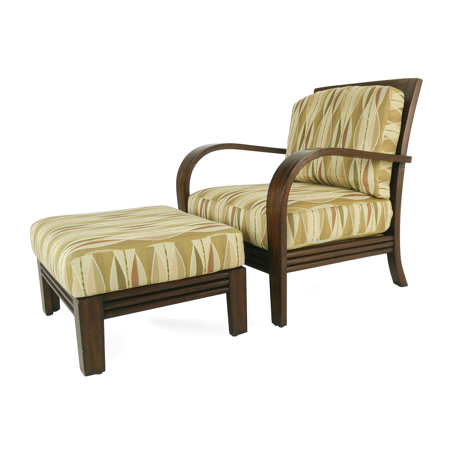 chairs with storage ottoman living room arm chair 81 off ethan allen lounge and