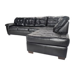 Faux Leather Sofas And Chairs Ikea Sleeper Sofa Friheten 51 Off Bobs Furniture Black Sectional