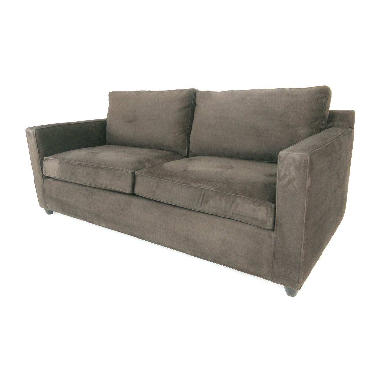 crate and barrel davis sofa leather sofas chicago area 44 off grey thesofa
