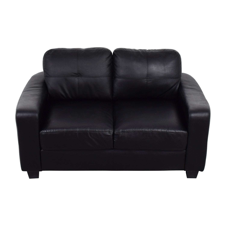 bonded leather sofa and loveseat armless full sleeper 79 off black sofas