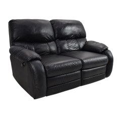 Recliner 2 Seater Sofas Leather Single Sofa 68 Off Black Reclining