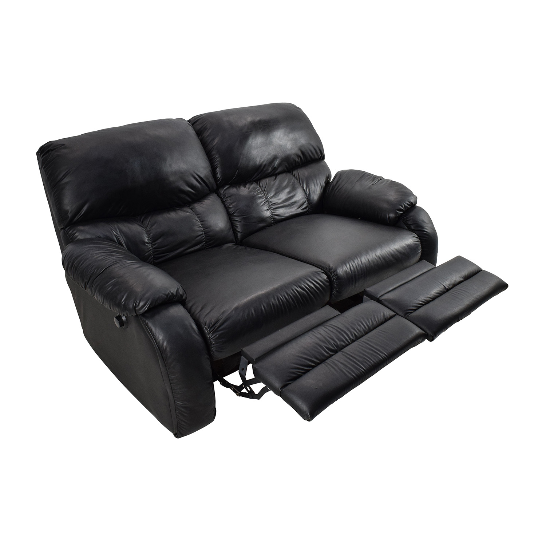 recliner 2 seater sofas leather velvet sofa blush pink 68 off black reclining