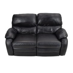 Recliner 2 Seater Sofas Leather Corner With Recliners 68 Off Black Reclining