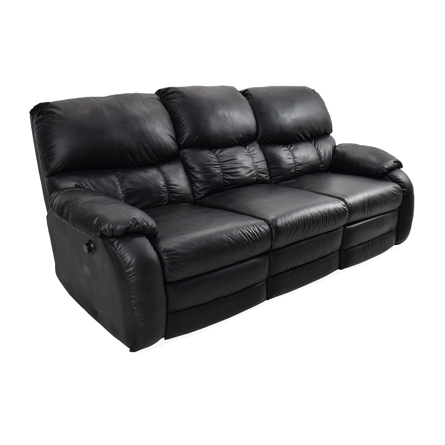 secondhand leather sofas average cost of a good sofa 68% off - black reclining couch /