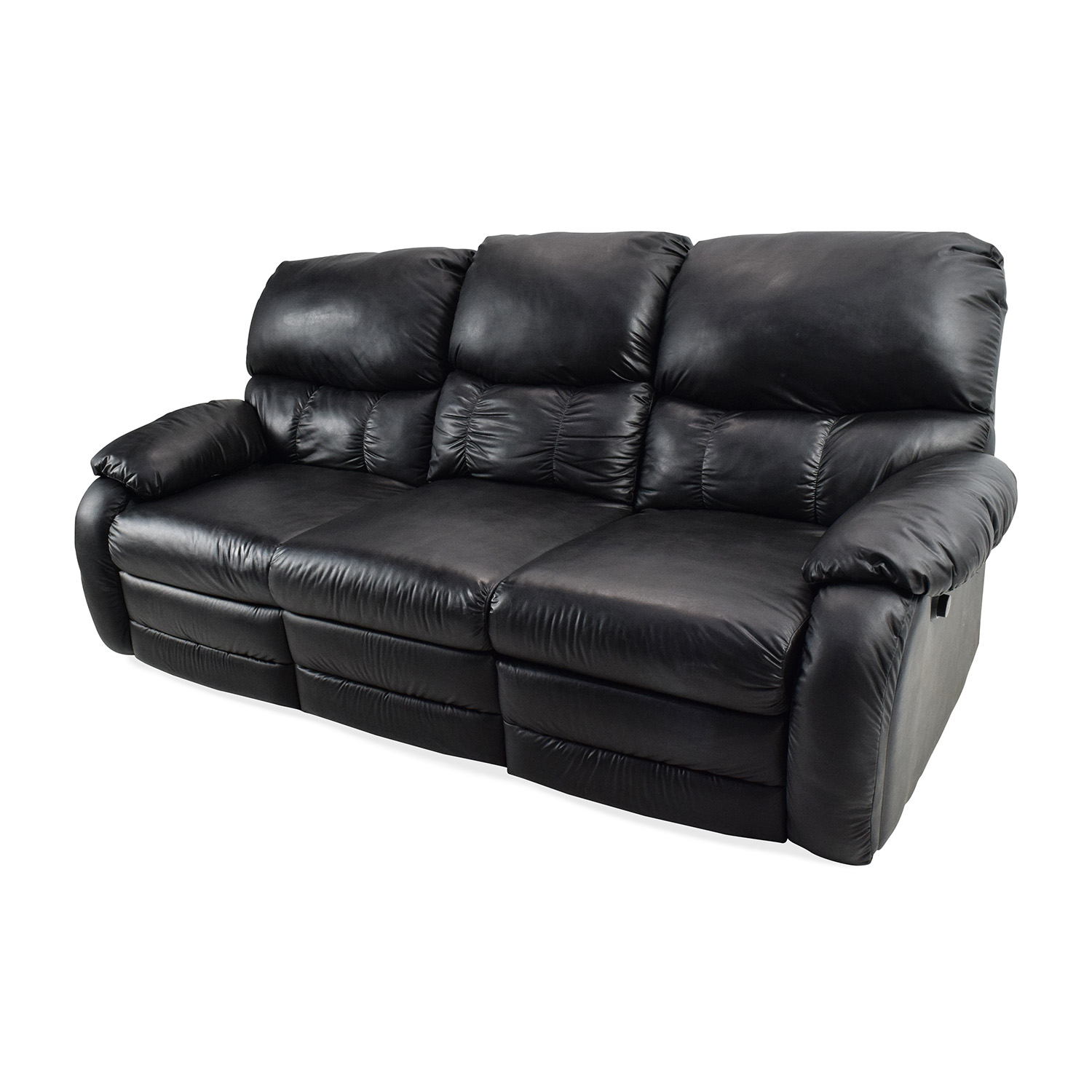 68 OFF  Black Leather Reclining Couch  Sofas