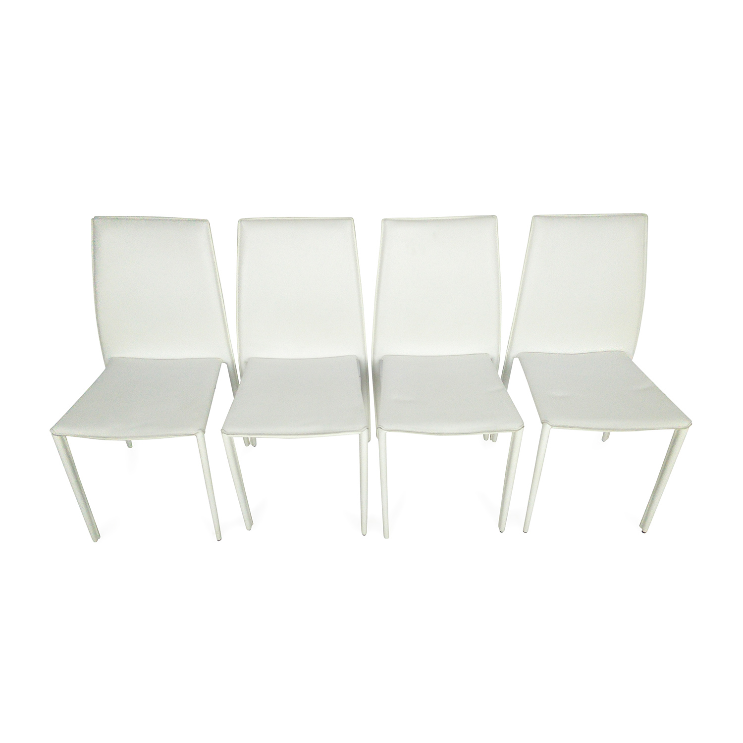 all modern leather dining chairs chair covers and sashes near me 51 off white