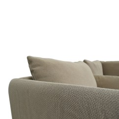 2nd Hand Sectional Sofa Milano Leather Dual Facing Corner Group Ivory Second Convertible Plus