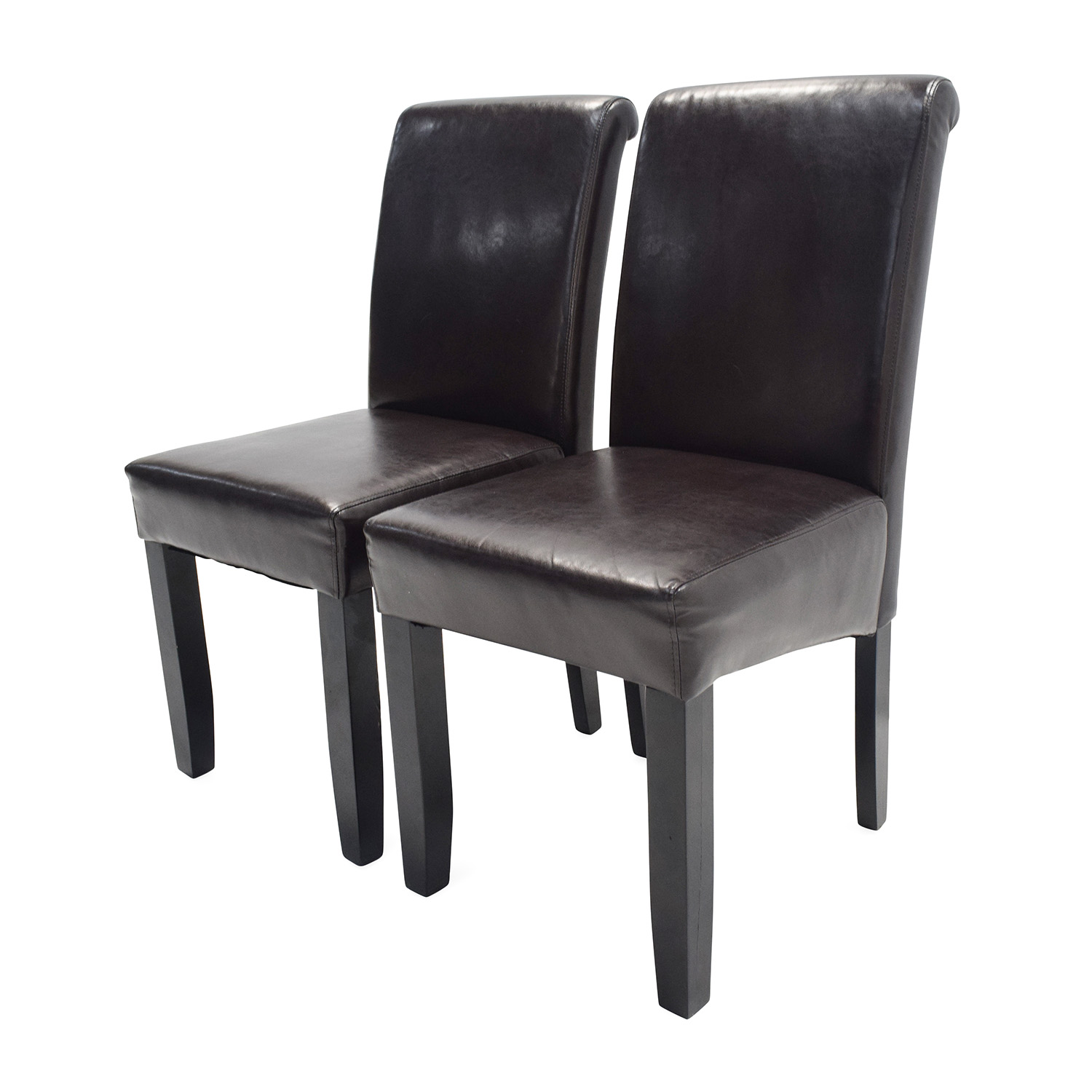 used restaurant chairs glider chair accessories 72 off unknown brand espresso leather dining