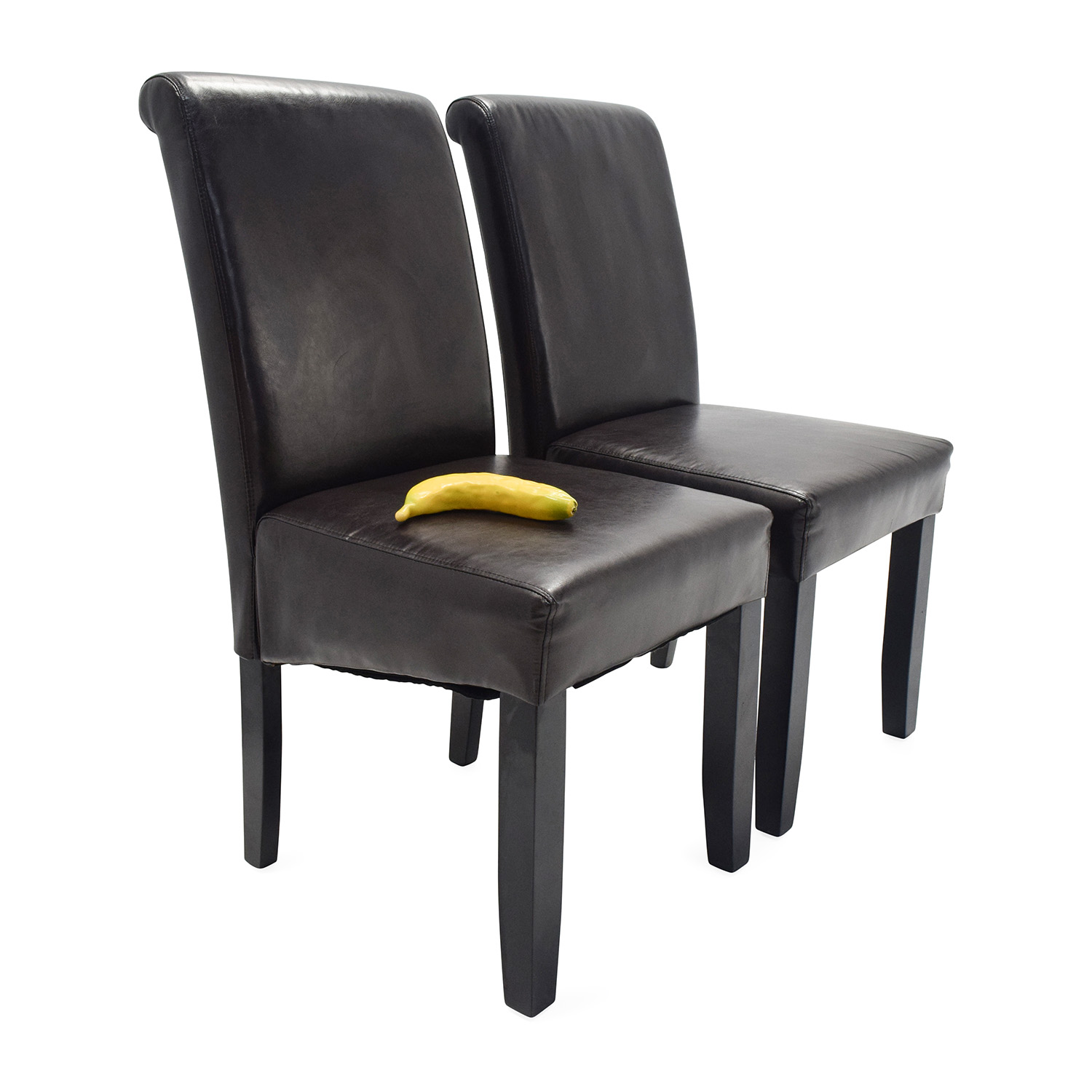 espresso dining chair spandex covers on ebay 72 off unknown brand leather chairs