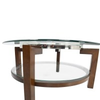 88% OFF - Macy's Macy's Glass Top Coffee Table / Tables