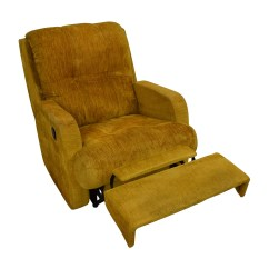 Used Recliner Chairs Padded Kitchen On Wheels 75 Off Unknown Brand Yellow Chair