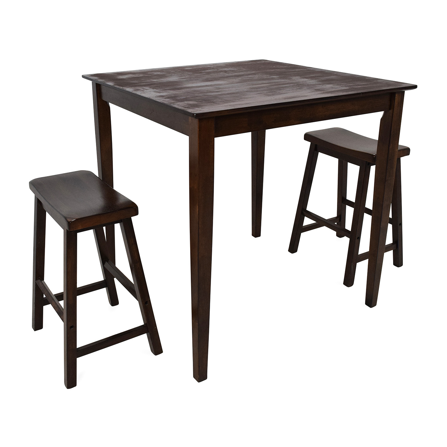 ashley furniture kitchen chairs cabinet grease remover 75 off tall extendable dining room table set tables