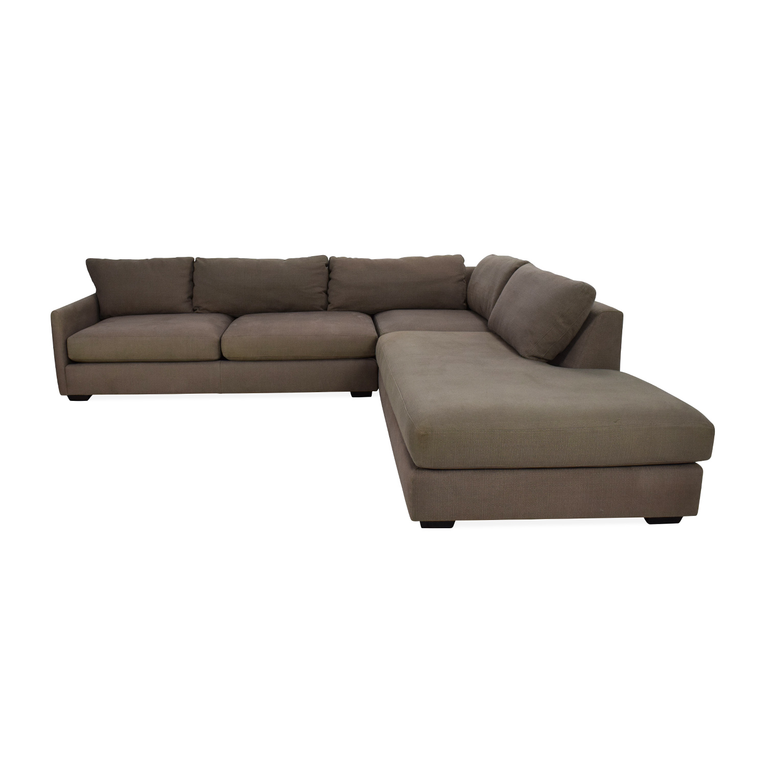 2nd hand sectional sofa ebay bed with storage 82 off crate and barrel domino sofas second