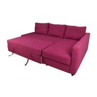 66% OFF - IKEA IKEA FRIHETEN Pink Sleeper Sofa / Sofas