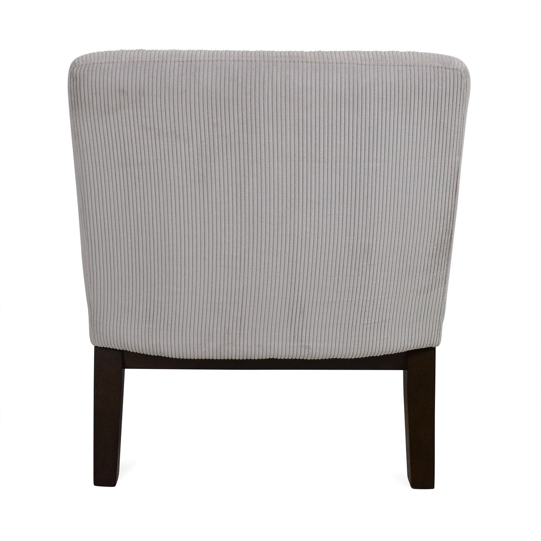 white leather slipper chair low back beach west elm designer love