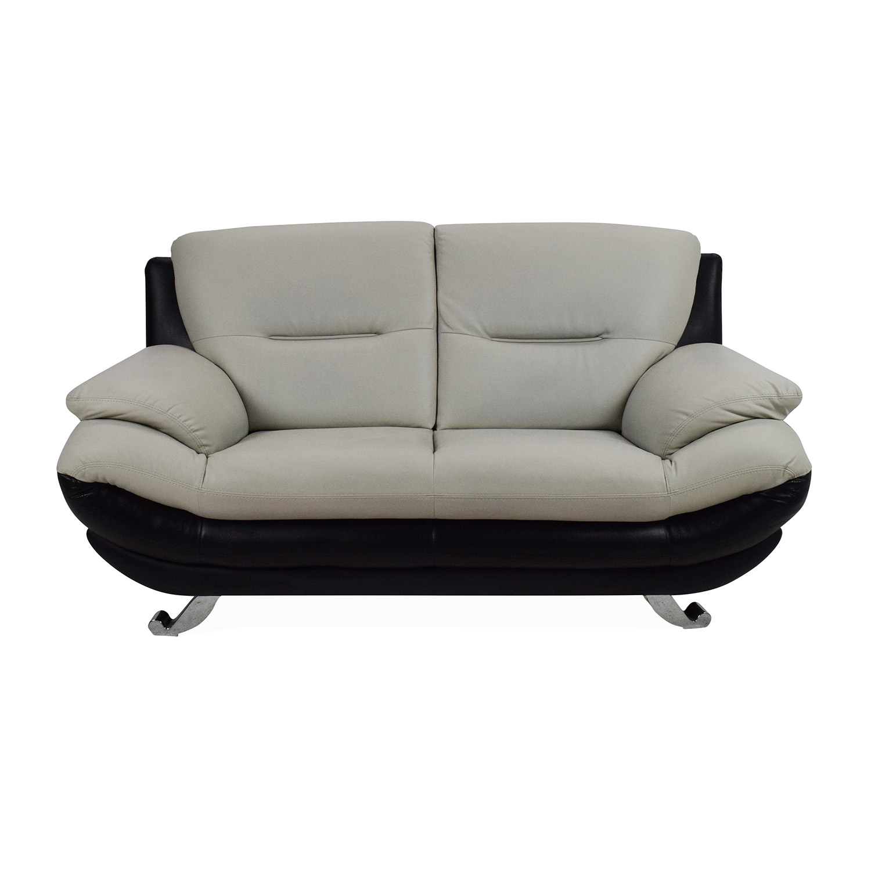 faux leather sofa india bernhardt sleeper modern 2 seater torino blue velvet apartment ...
