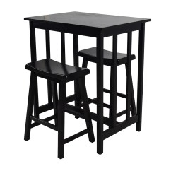 Tall Kitchen Table And Chairs Rocking Chair Pads With Ties 66 Off Set Tables Dining Sets