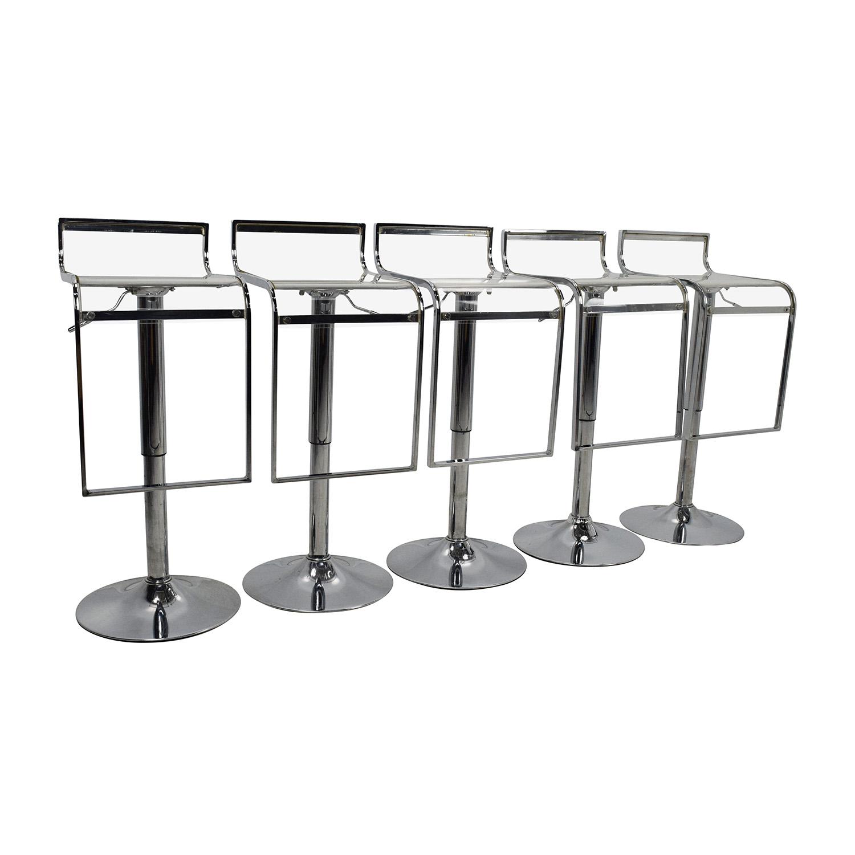 stool chair amazon child desk 86 off transparent bar set chairs
