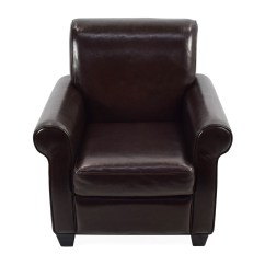 Dark Brown Leather Chair Folding Padded 65 Off Door Store