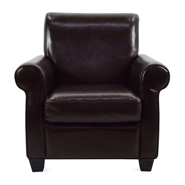 dark brown leather chair desk jersey 65 off door store