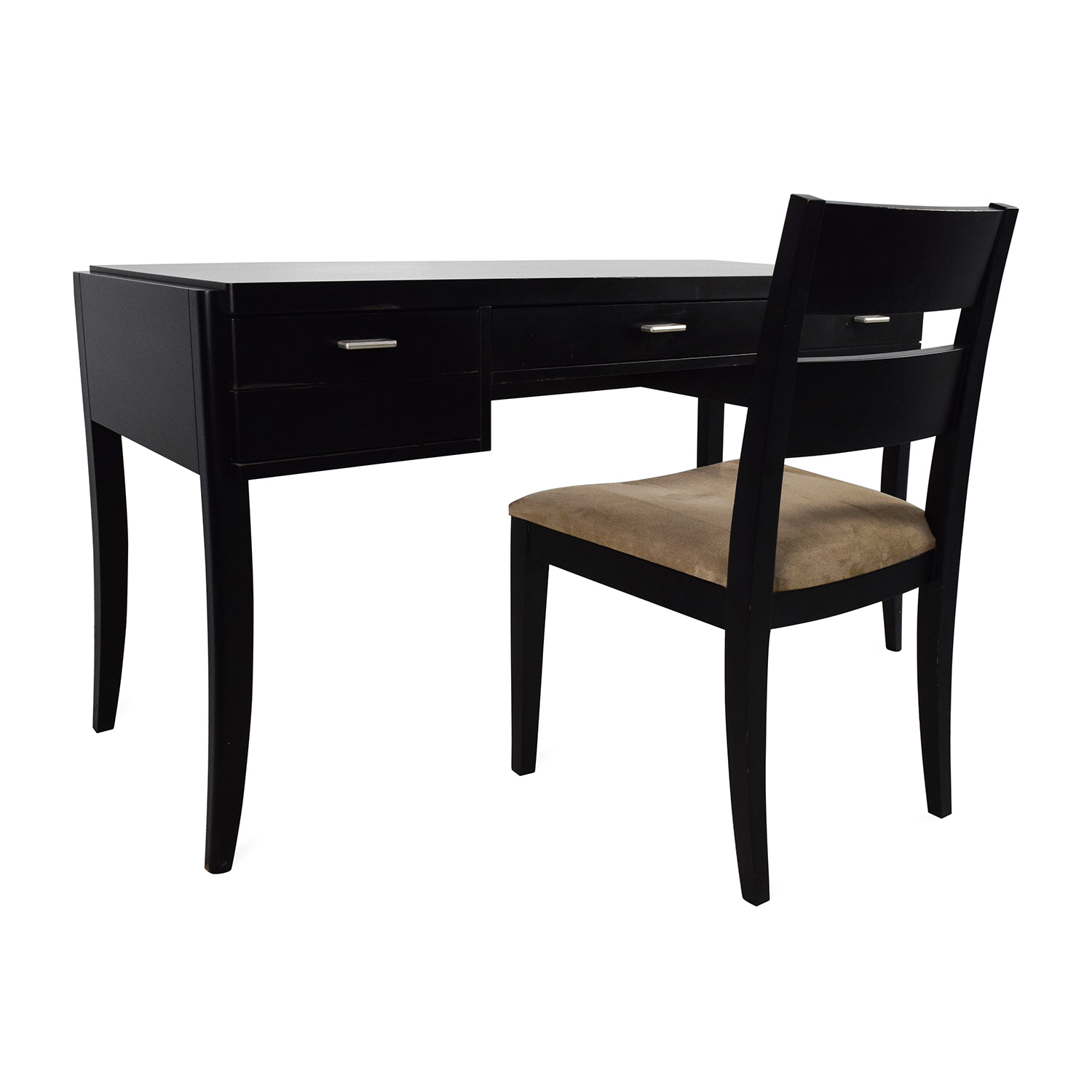 78 OFF  Crate  Barrel Crate  Barrel Black Wood Desk