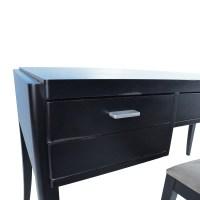 78% OFF - Crate & Barrel Crate & Barrel Black Wood Desk ...