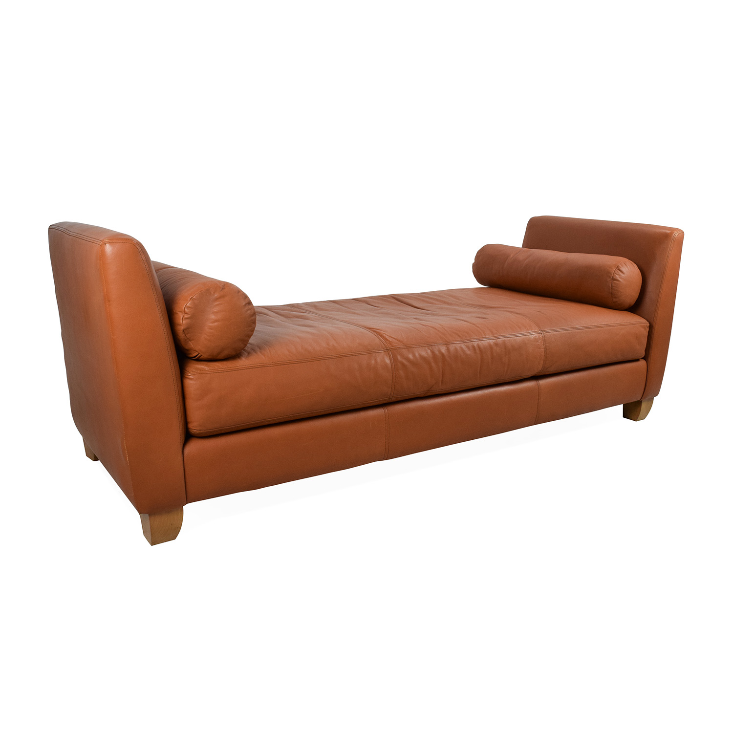 sofa bluebell chaise kerber tennis sofascore 88 off conrad orange leather daybed sofas
