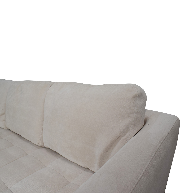 cream colored microfiber sofa baker sofas furniture 65% off - macy's milo fabric sectional ...