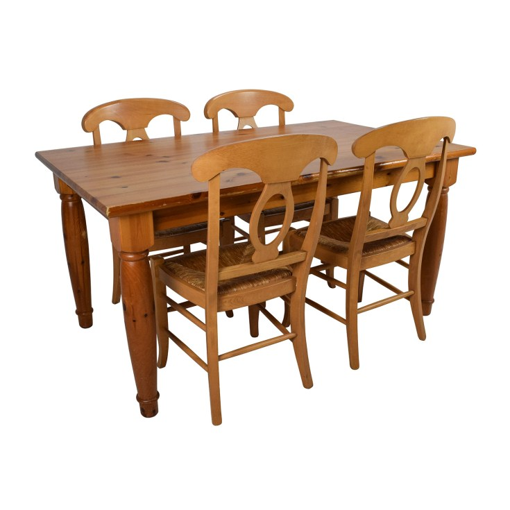 73% off - pottery barn pottery barn dining room table with four