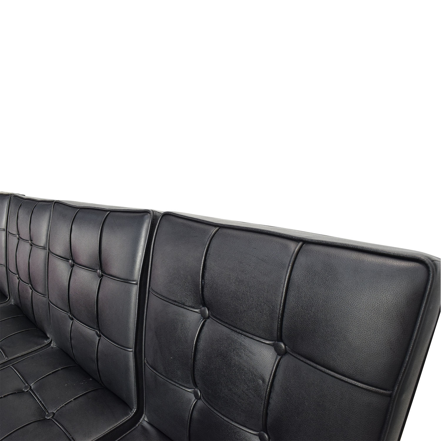 80 OFF  Black Leather Conference Room Chair Set  Chairs