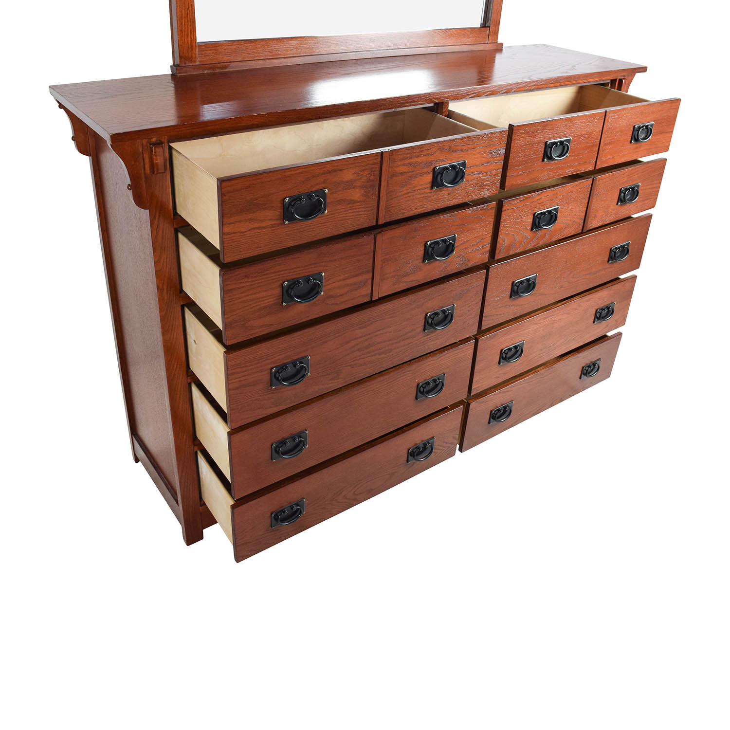 69 OFF  Cherry Stained Solid Wood Bedroom Dresser with