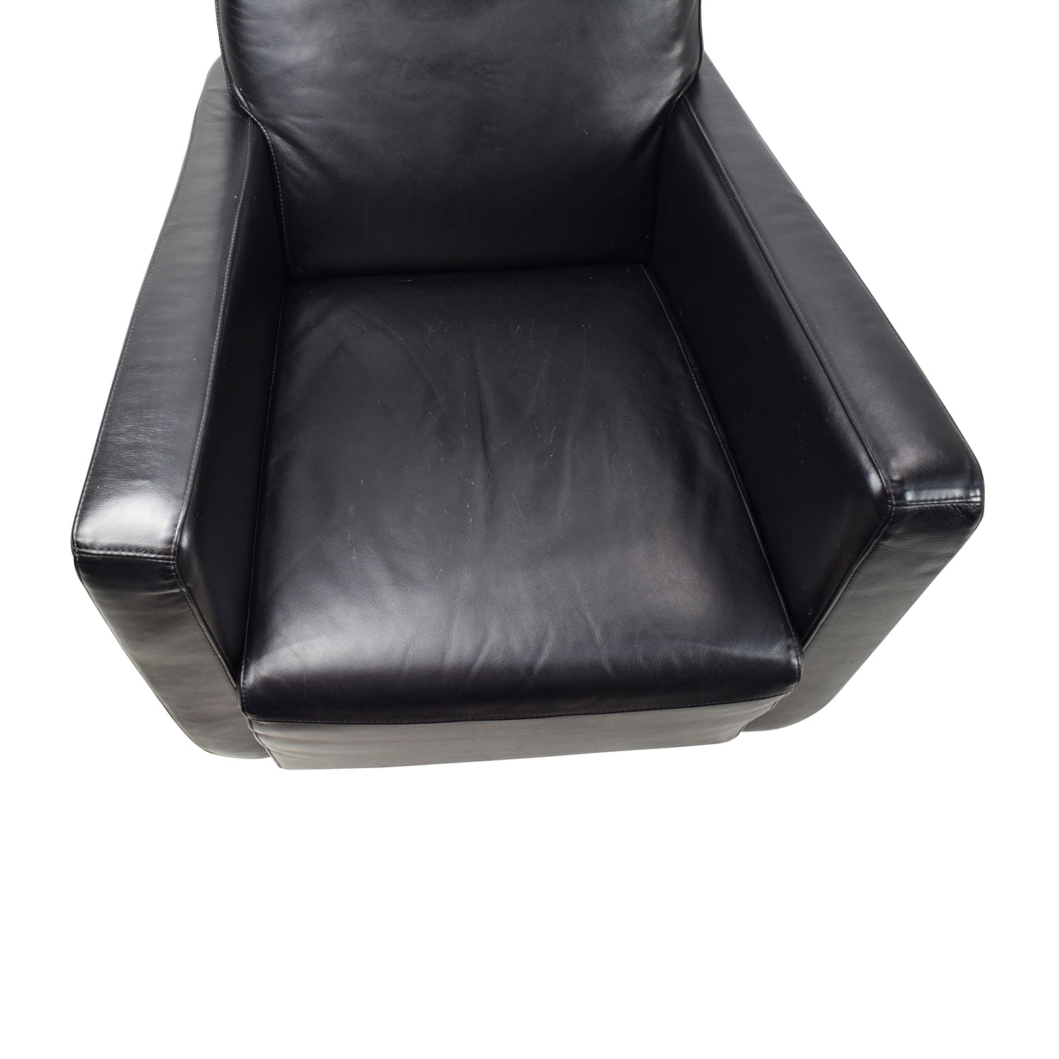 natuzzi swivel chair desk that leans back 90 off black leather with