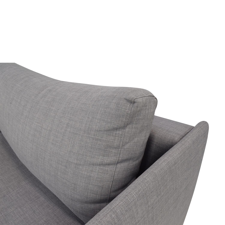 50 Off Cb2 Tandom Grey Sleeper Sofa Sofas
