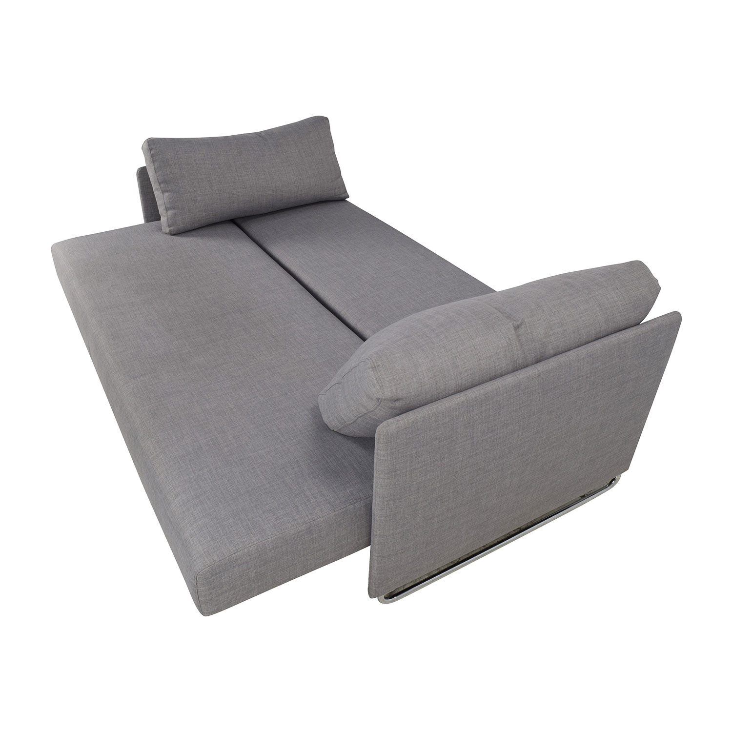 cb2 sectional sofa bed lounges melbourne 50 off tandom grey sleeper sofas