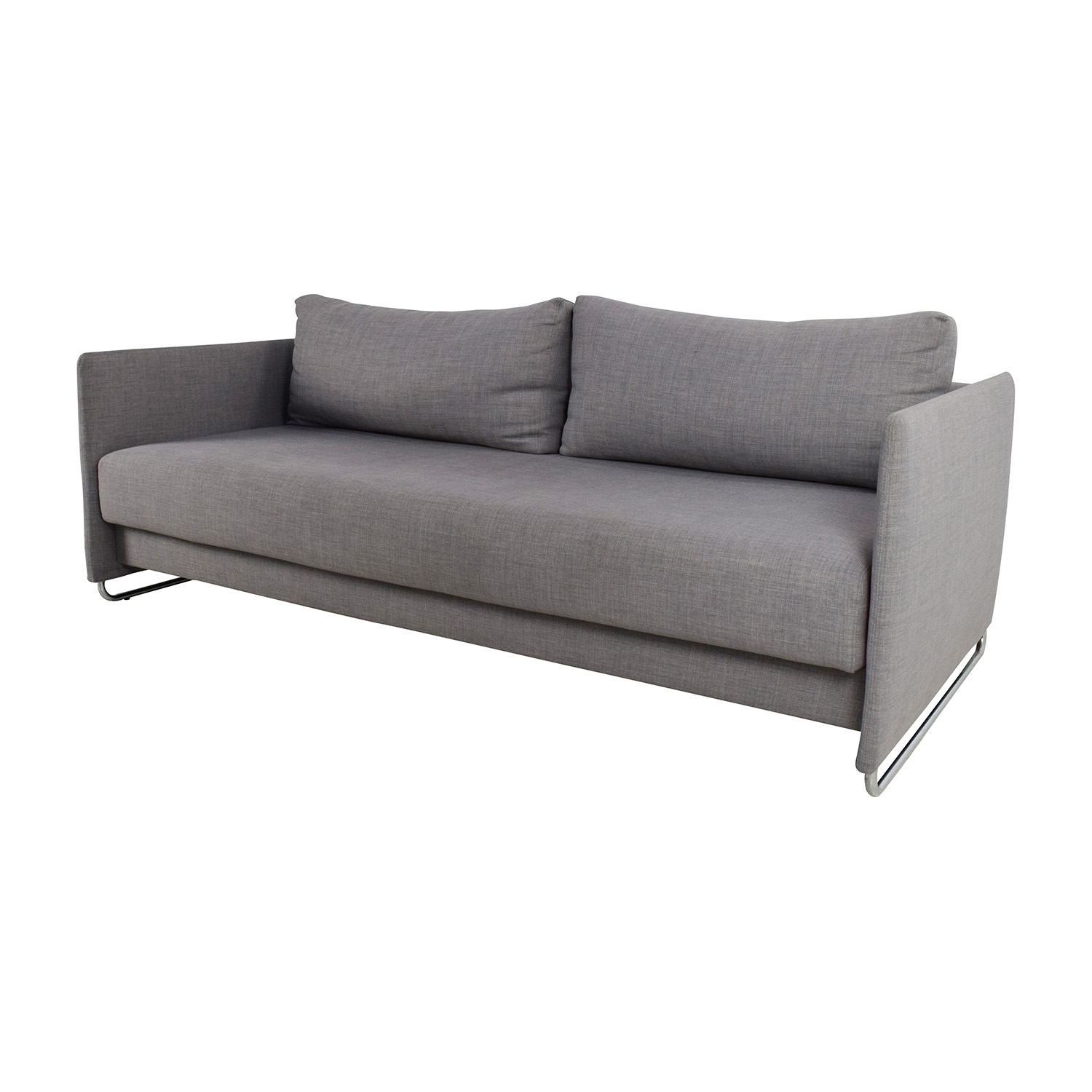 cb2 sectional sofa bed black fabric corner forte channeled saddle leather thesofa
