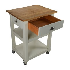 Rolling Kitchen Chairs Marble Table Set 50 Off Cart With Cutting Board Tables