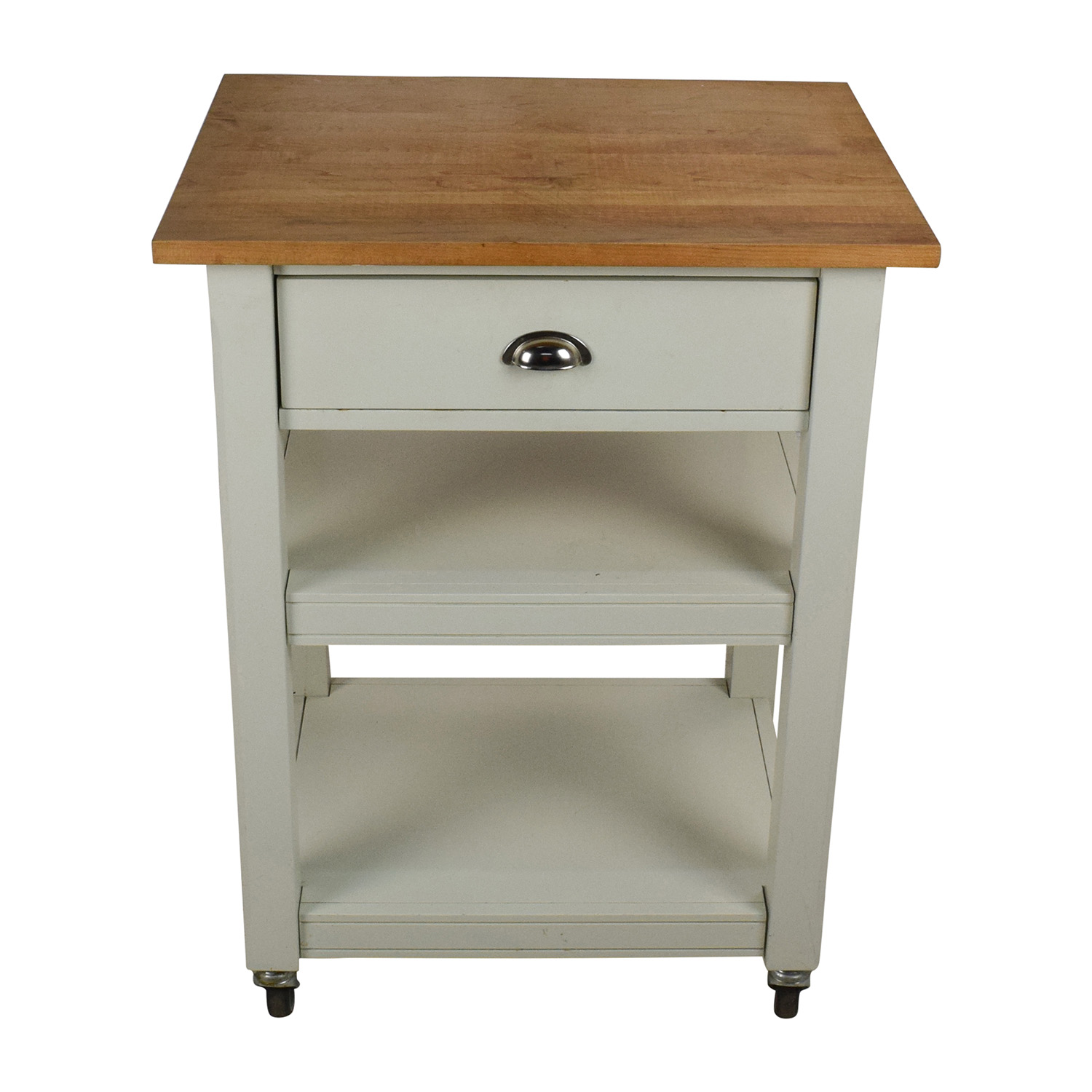 rolling kitchen chairs cottage cabinets 50 off cart with cutting board tables