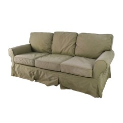 Sage Leather Sofa Sofaland Jessica 89 Off Pottery Barn Couch Sofas