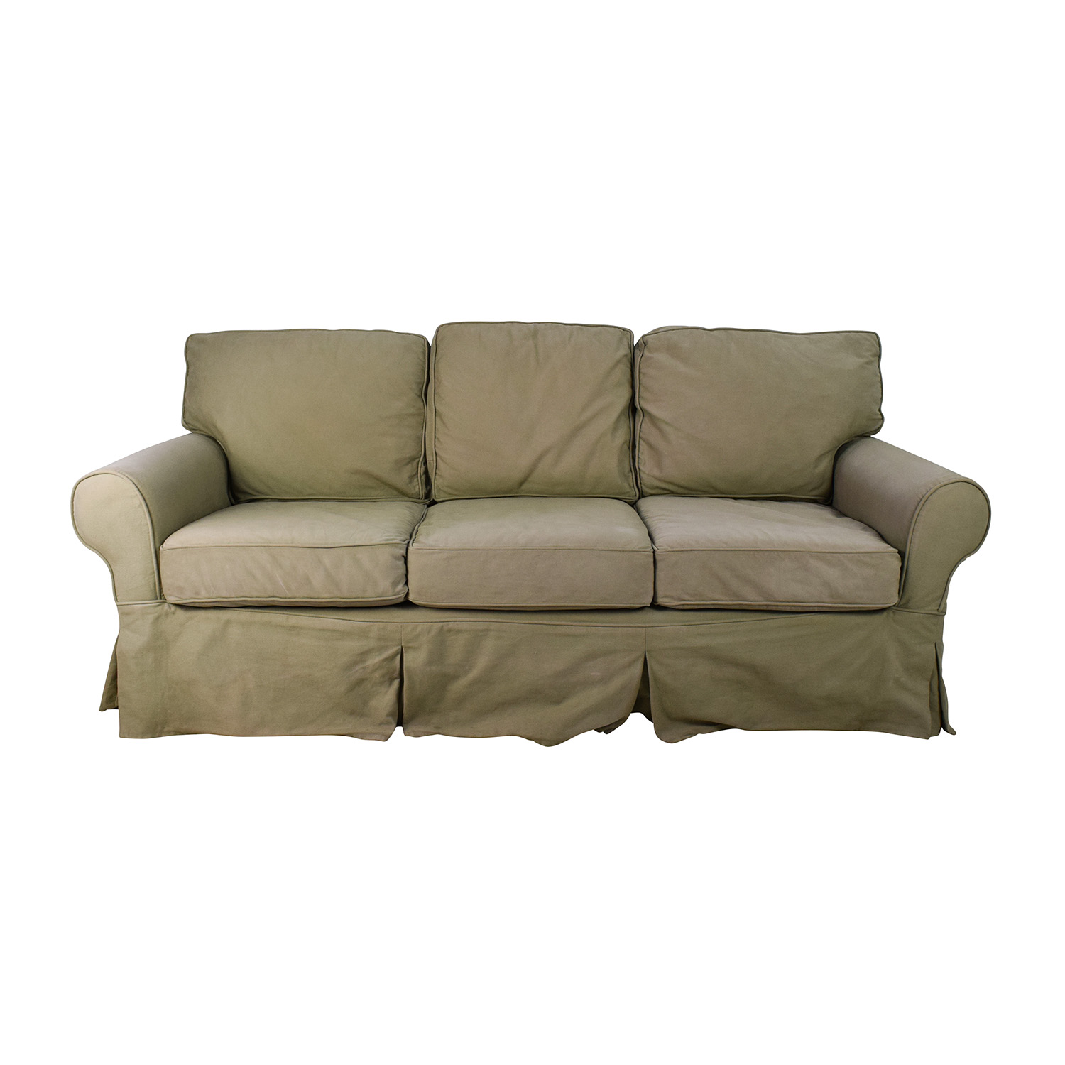 sage leather sofa bristol supplies bed pottery barn bonners