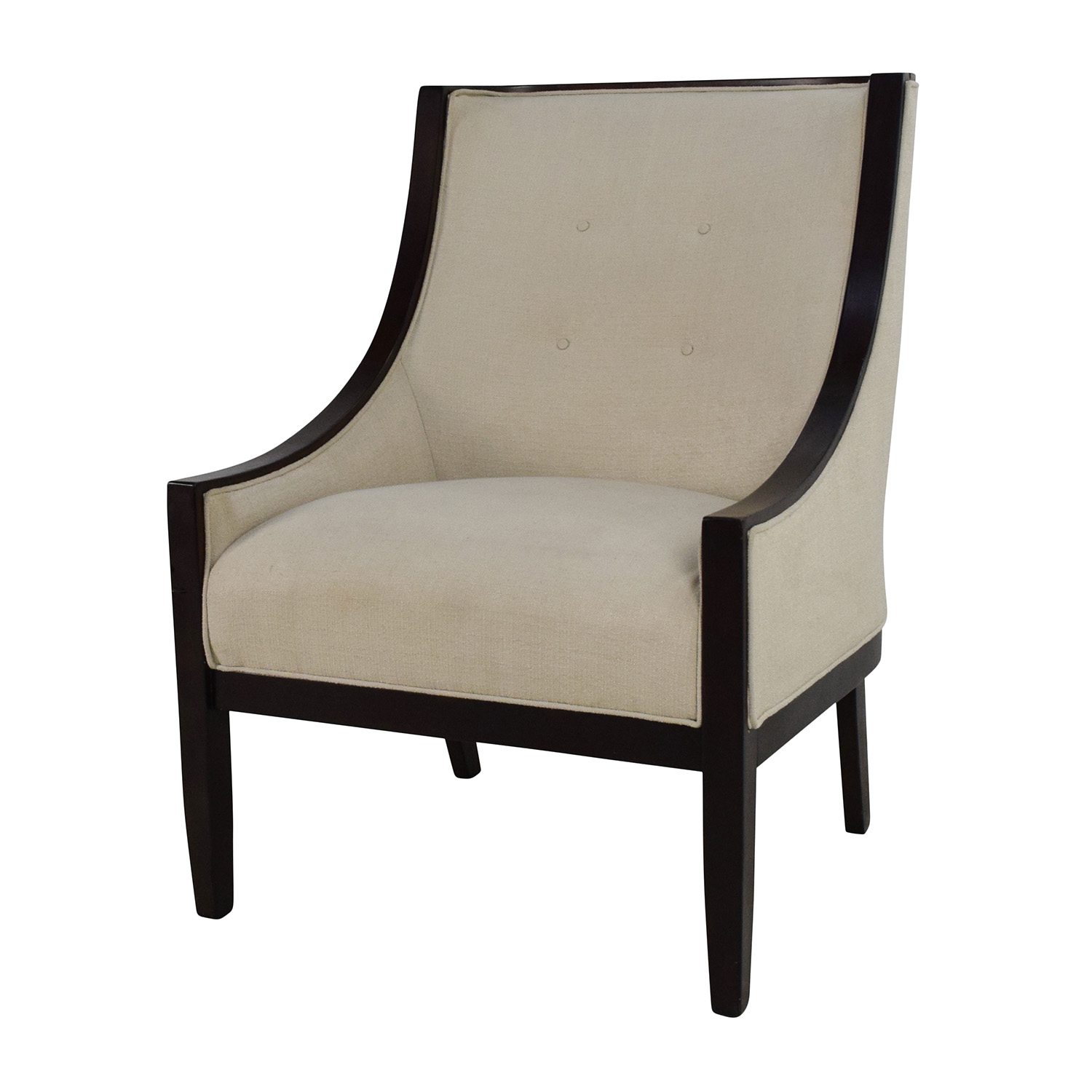 high back tufted chair cushions for ghost chairs 87 off bloomingdales bloomingdale 39s cream