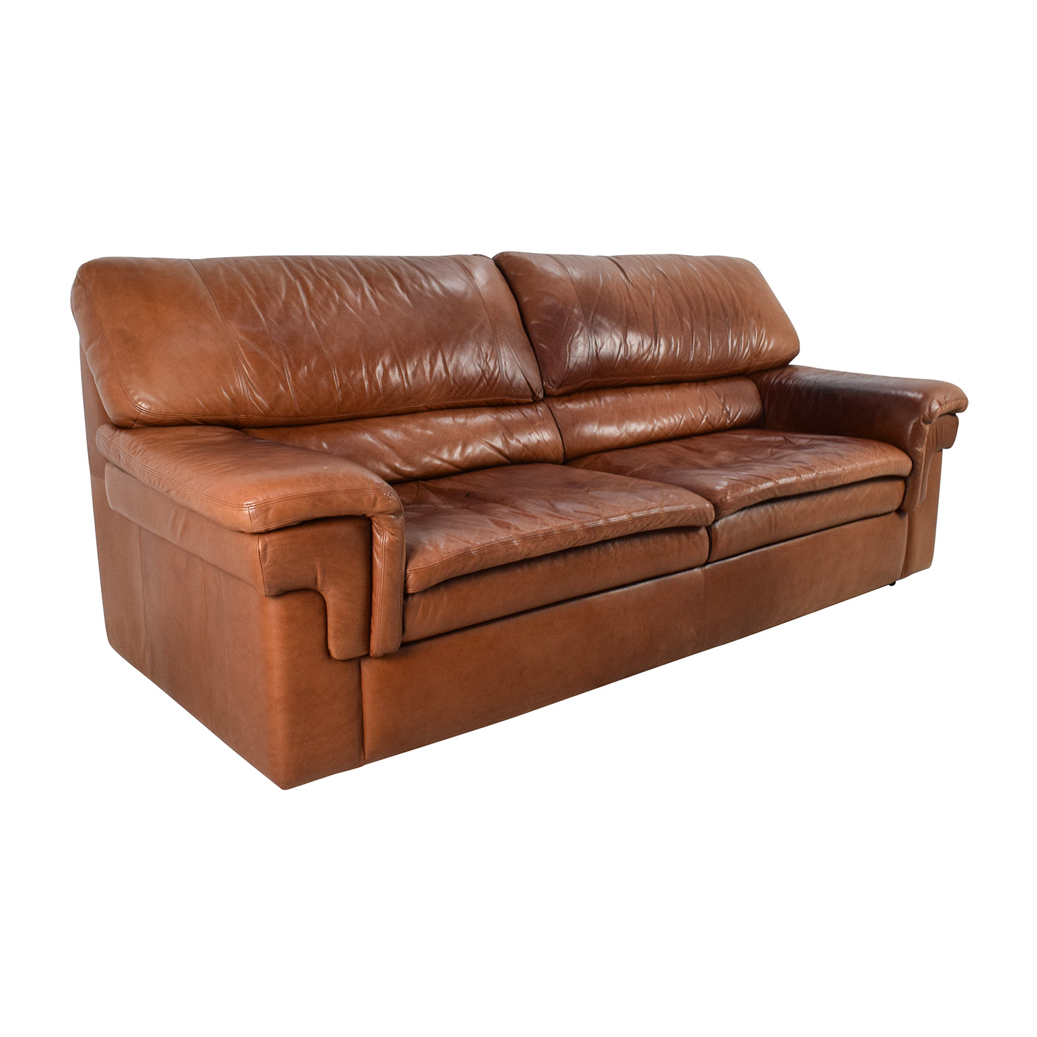 cherry red leather sofa cb2 sleeper sofas new reclining sectional in used