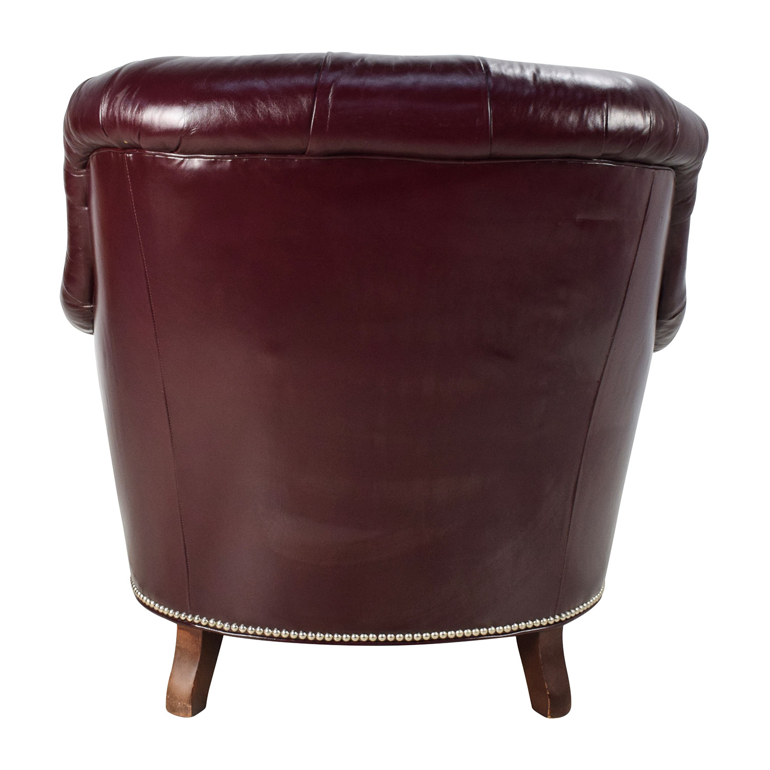 Tufted Leather Chair 90 Off Baker Furniture Baker Tufted Leather Lounge