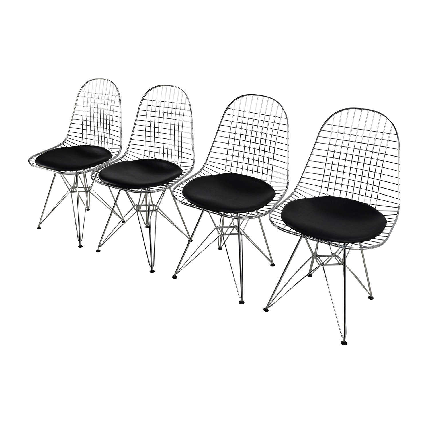 eames leather chair dining stool dream meaning 53 off herman miller wire set