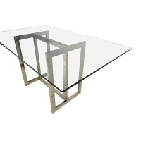 61% OFF - West Elm West Elm Hicks Glass Top Dining Table ...