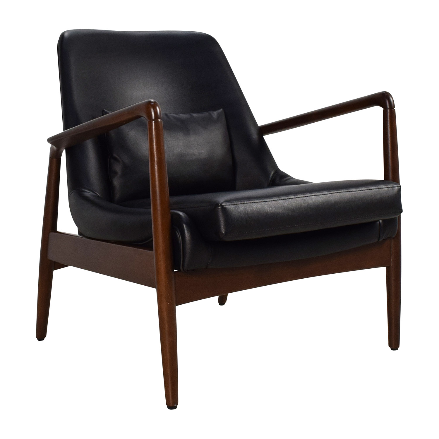 62 OFF  Black Leather Lounge Chair  Chairs