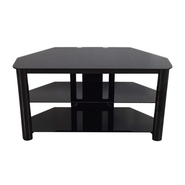 Best Buy Black Glass TV Stand