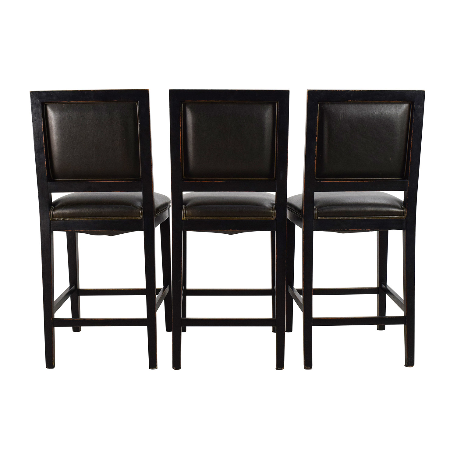 chairs crate and barrel kitchen wooden 88 off leather high